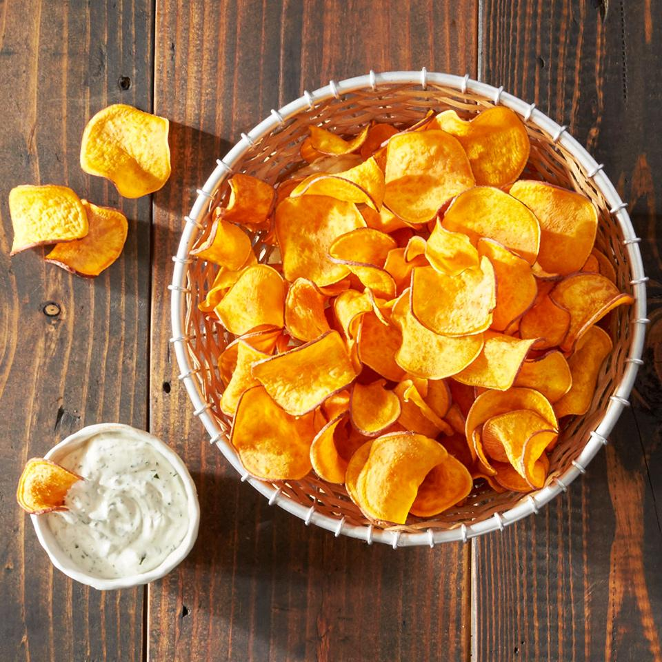 Baked Homemade Sweet Potato Chips