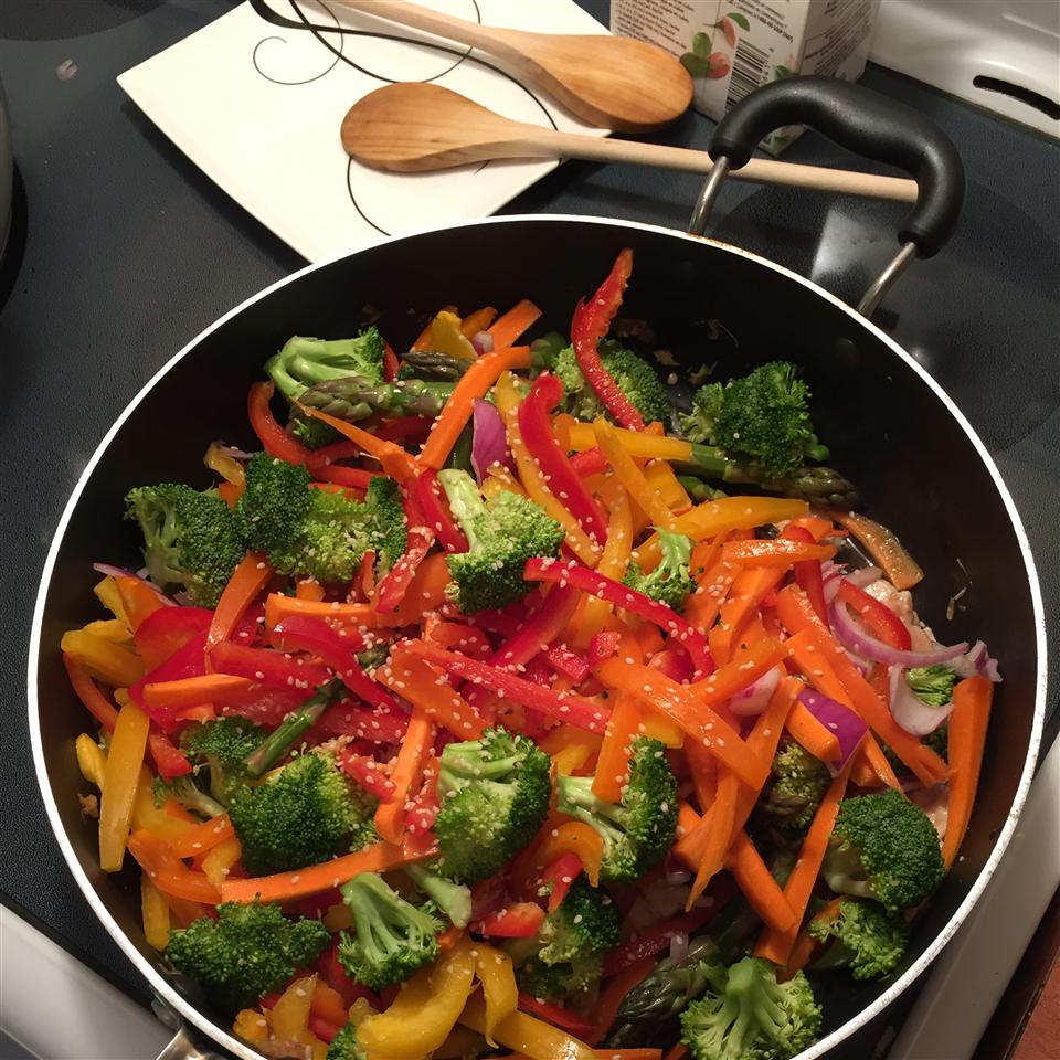 Stir Fried Sesame Vegetables with Rice Anthony Sanchez