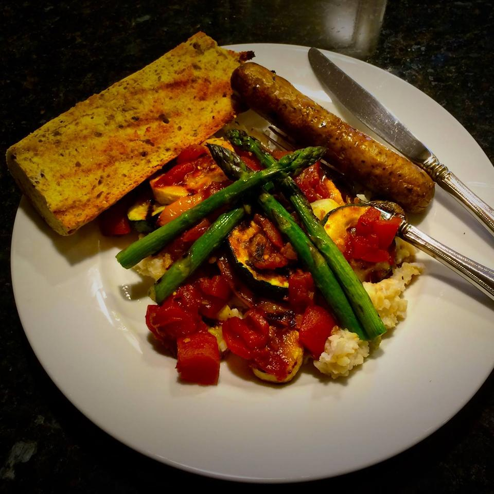 Grilled Vegetables in Balsamic Tomato Sauce with Couscous 5Tami2