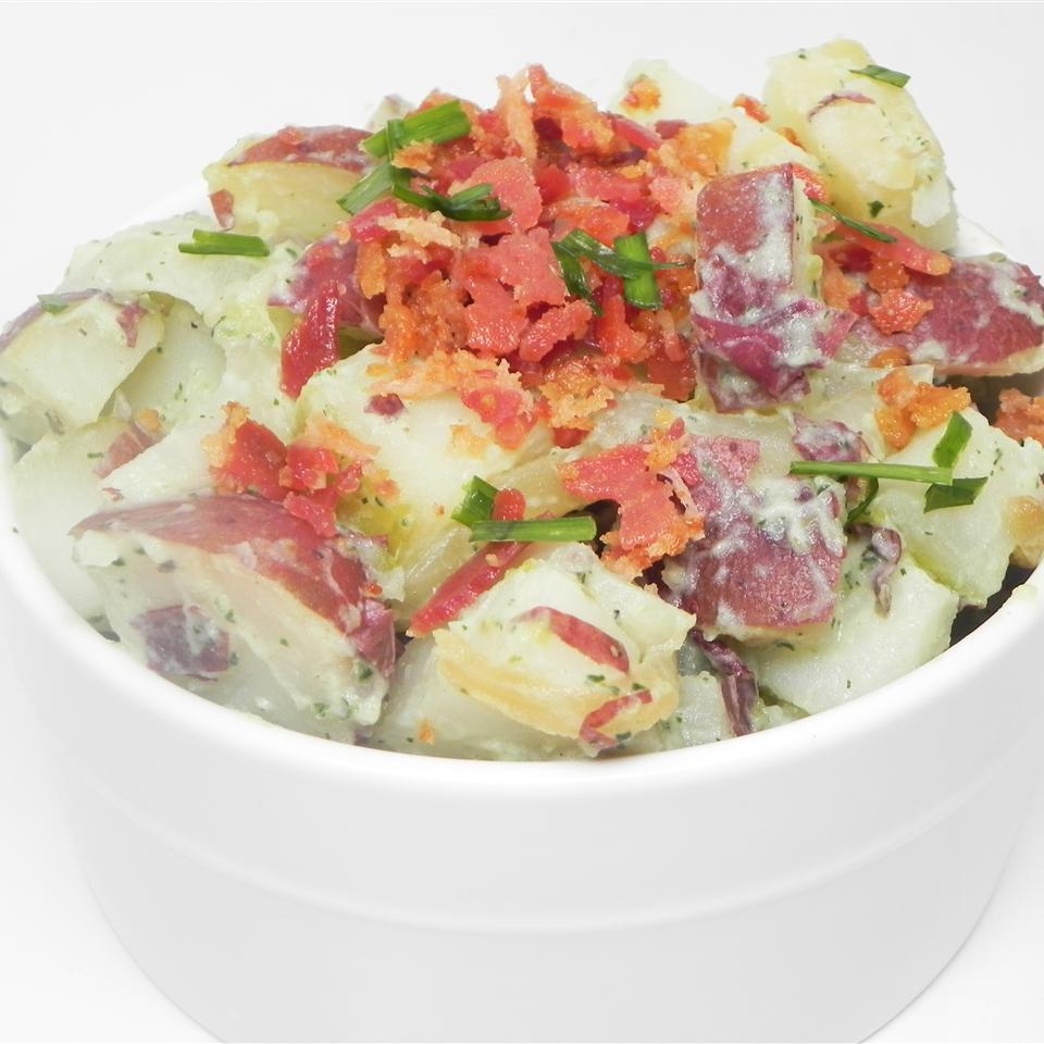 Caramelized Onion and Bacon Potato Salad
