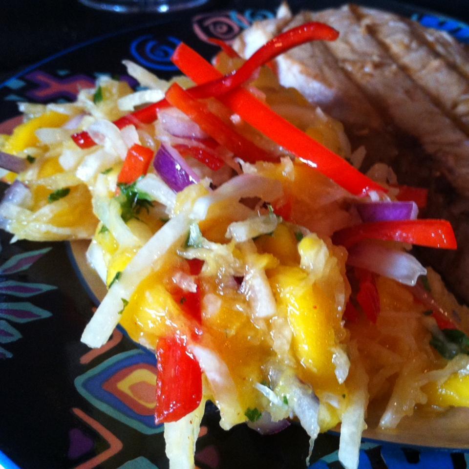 Jicama Mango Salad with Cilantro and Lime Francine Lizotte Club Foody