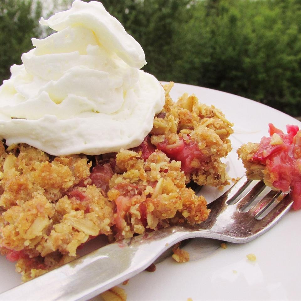Royal Rhubarb Crisp
