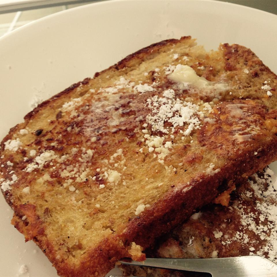 """Sweet potatoes add a gorgeous color, flavor and natural sweetness to this French toast recipe. And it's a delicious way to add more veggies to your breakfast! """"This was great!"""" says reviewer Erin. """"It added a little something extra to plain old french toast. Served with warm maple syrup - perfect!"""""""