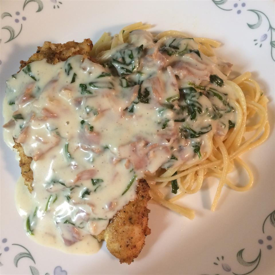 Chicken with Prosciutto Spinach Cream Sauce