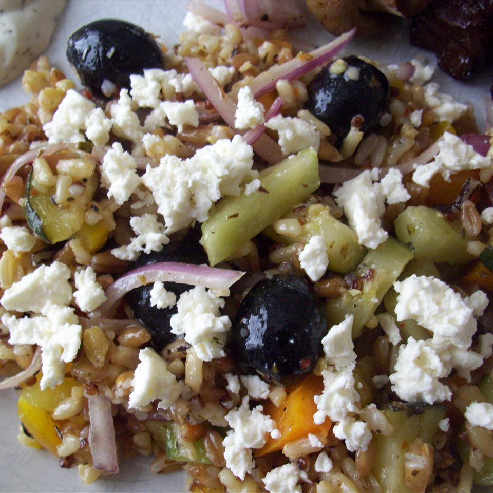 Quinoa, Couscous, and Farro Salad with Summer Vegetables Chef V