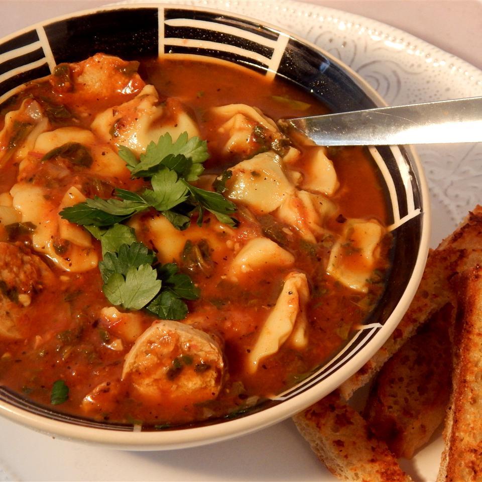 Authentic Tortellini Soup