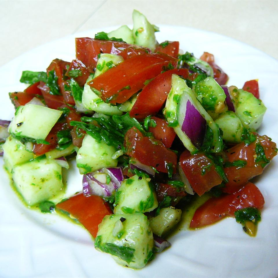 Amazing Cucumber Basil Salad Molly