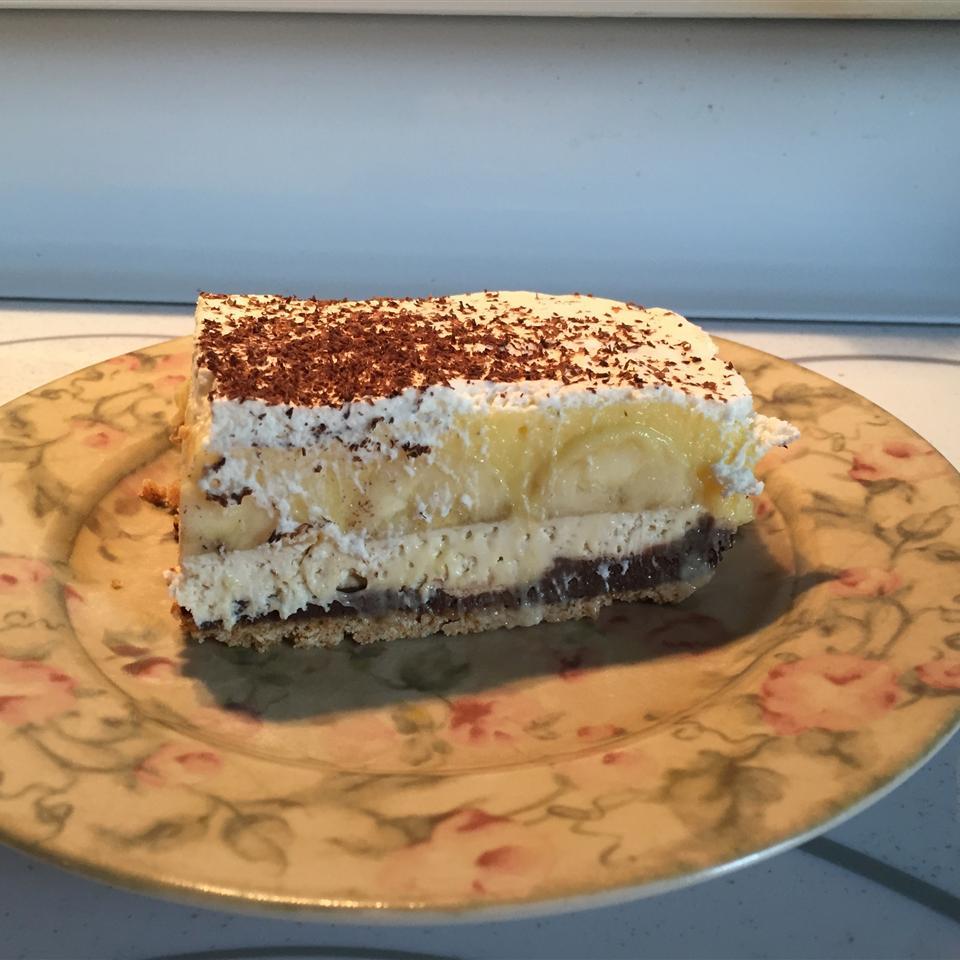 5-Layer Chocolate Banana Pudding Pie