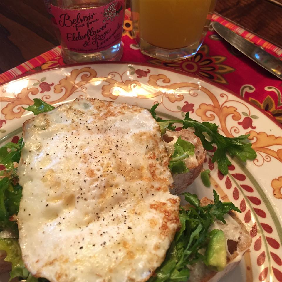 Open Faced Egg Sandwiches with Arugula Salad Sophie