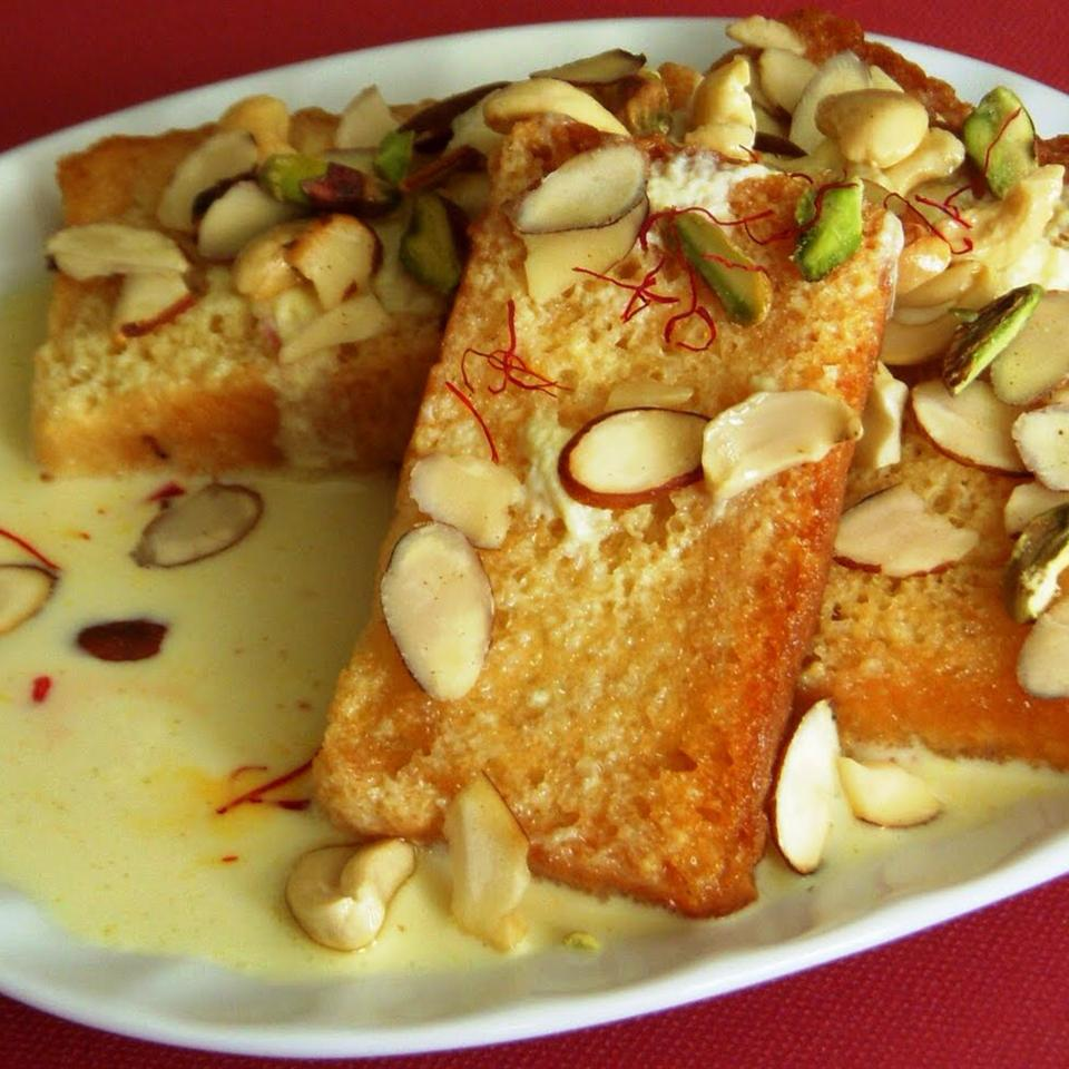 Shahi Tukra (Indian Bread Pudding)