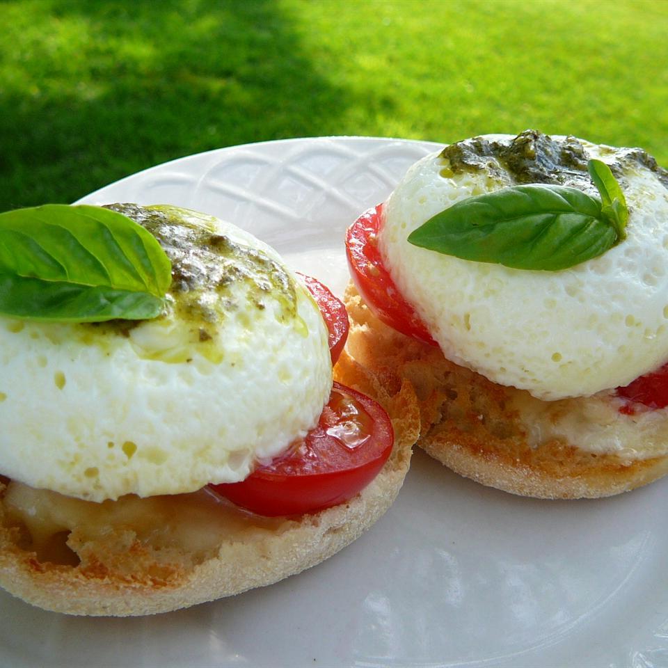 Poached Eggs Caprese Molly