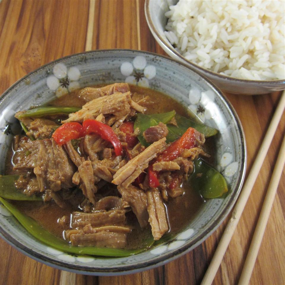 Slow Cooker Thai Pork with Peppers Deb C
