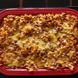 Chili Casserole with Egg Noodles CookingQueen