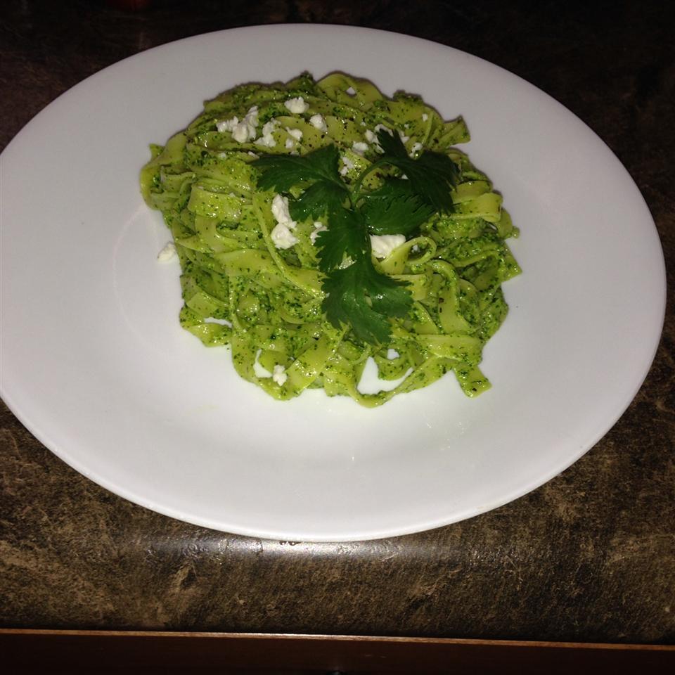 Tagliatelle with Coriander Pesto