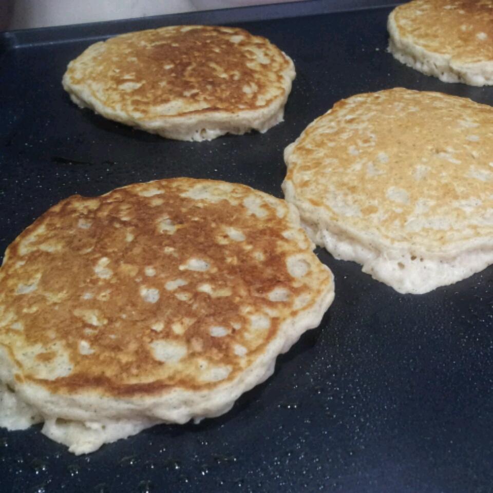 Hearty Oatmeal Pancakes jaimiejaims