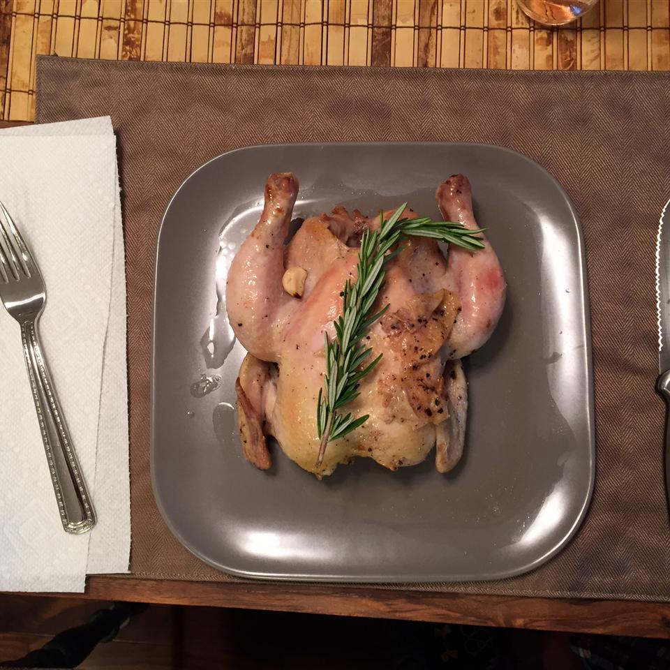 Cornish Game Hens with Garlic and Rosemary