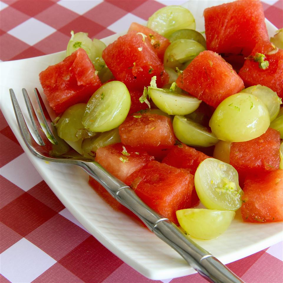 Watermelon Salad with Grapes and Citrus lutzflcat