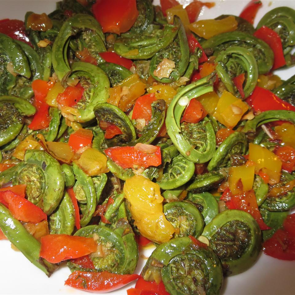 Spring Fiddleheads and Sweet Peppers Phoebe