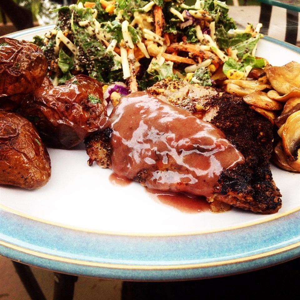 Flat Iron Steak Grilled to a 'Tea'