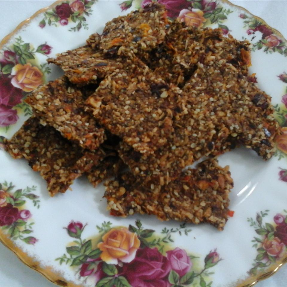 Gluten-Free Dehydrated Rosemary and Cranberry Crisps