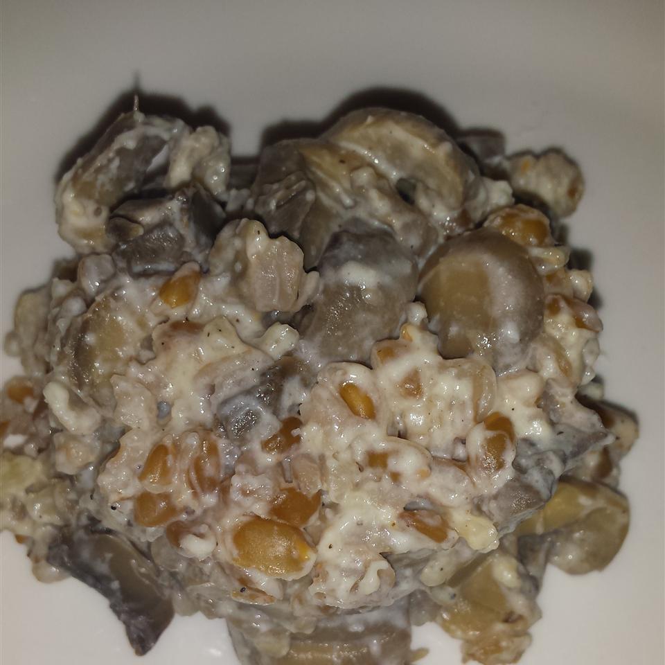 Farro with Wild Mushrooms Inez Quinn