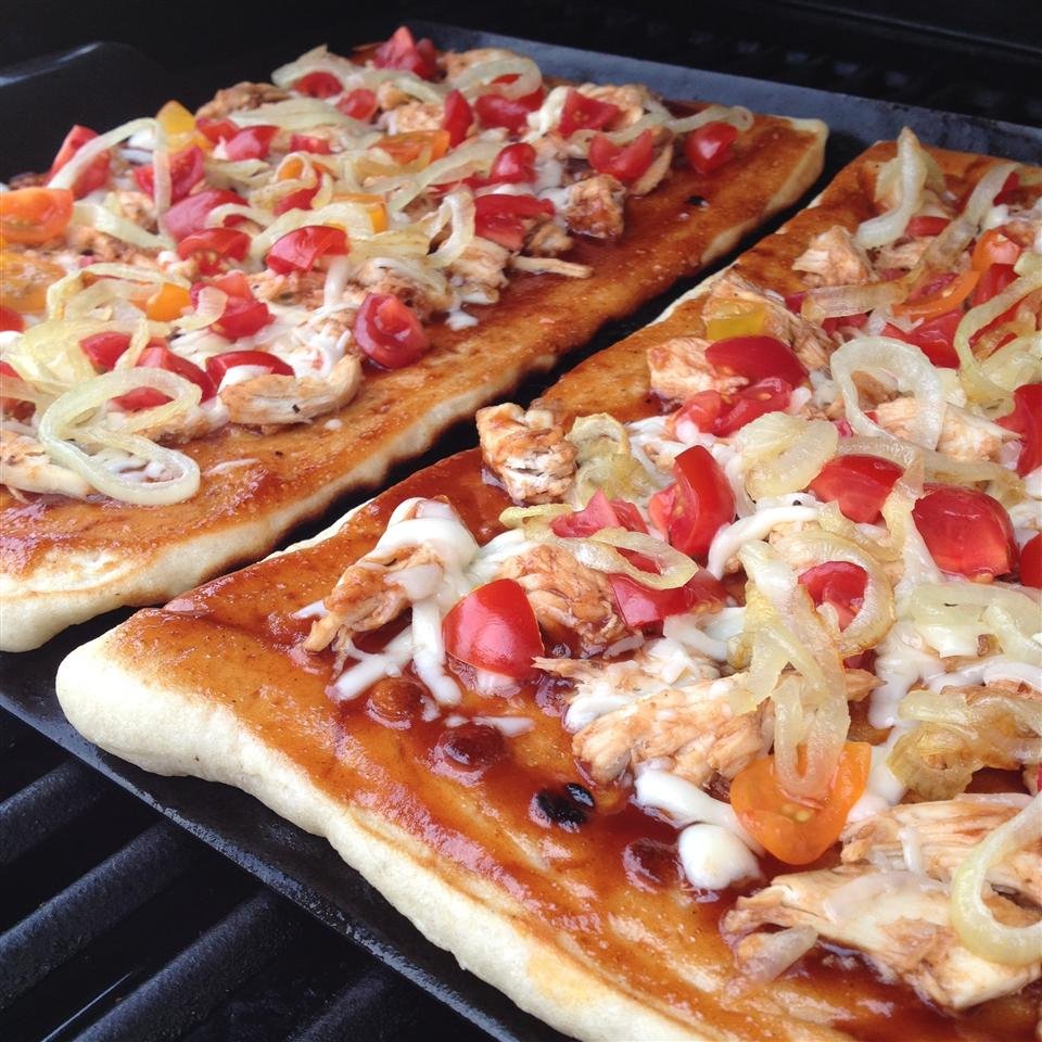 Barbeque Chicken Grilled Pizza