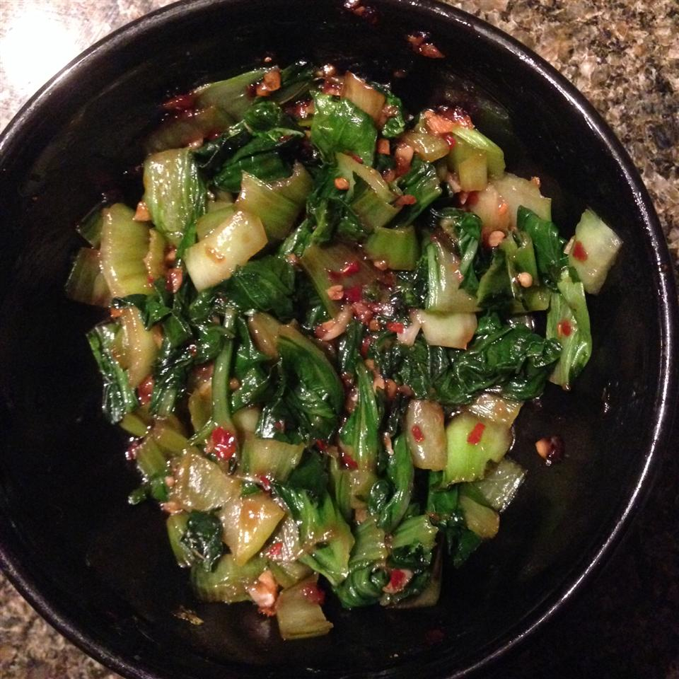 Spicy Bok Choy in Garlic Sauce Christabelle