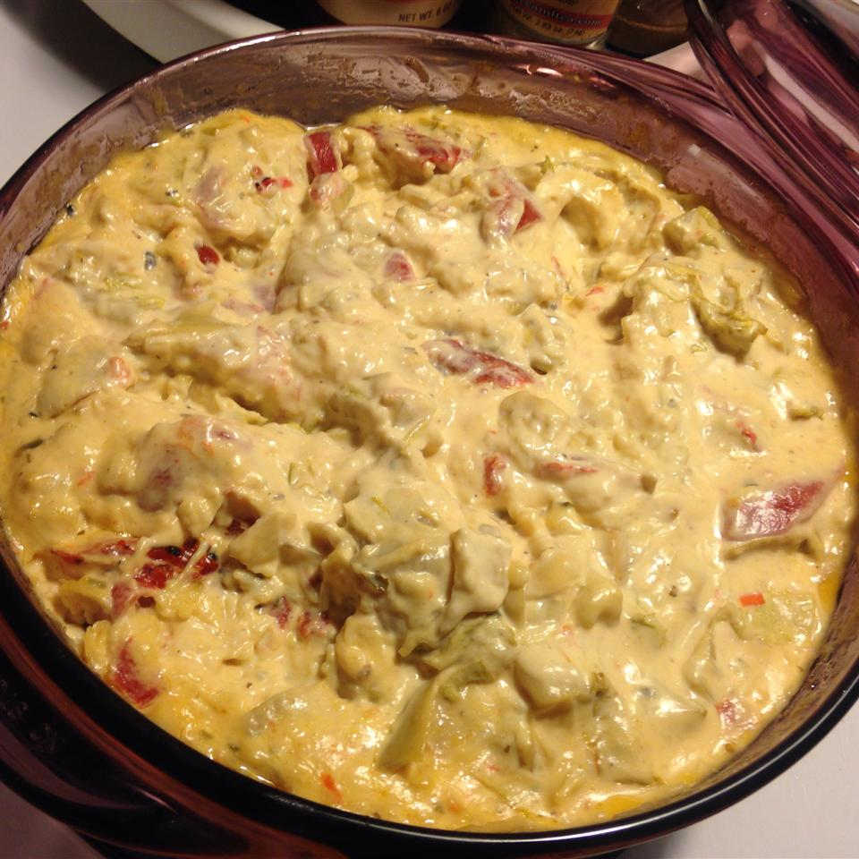 Hot Roasted Red Pepper and Artichoke Dip ROBYN050501