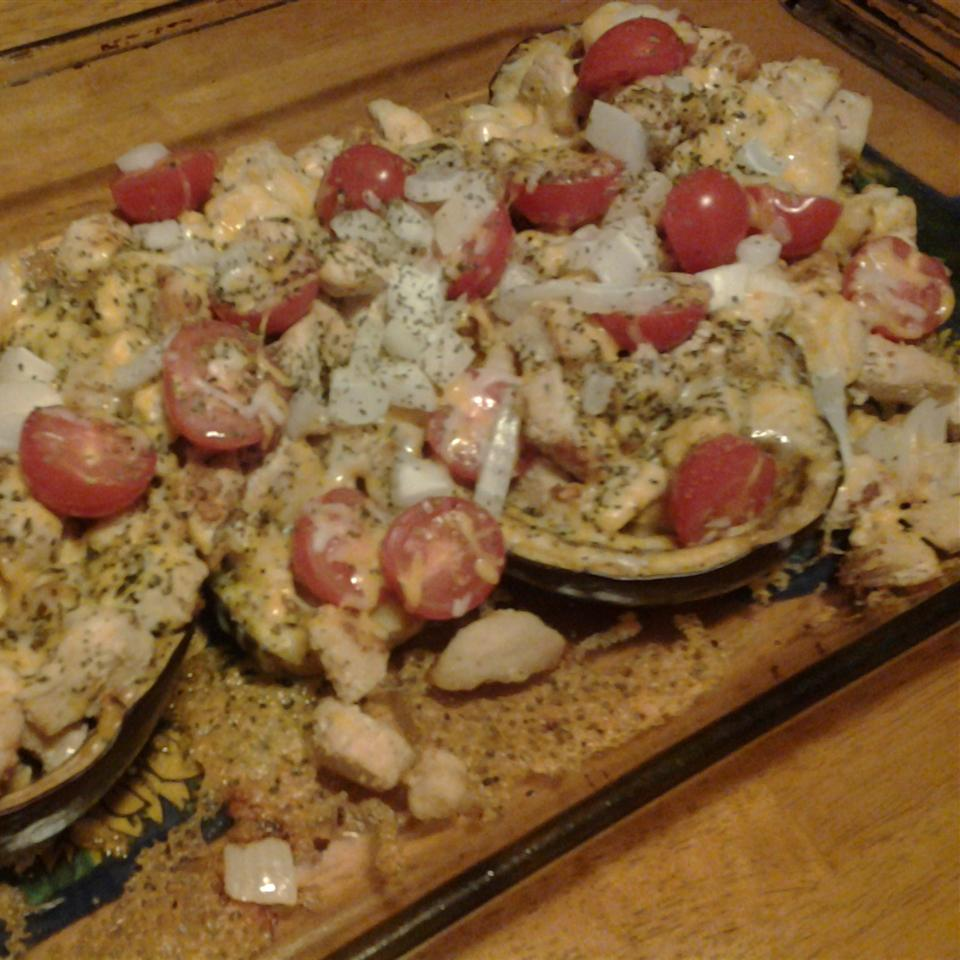 Eggplant Stuffed with Chicken and Cheese Christie Nicklay