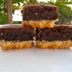 Gooey Brownies with Shortbread Crust J.C.princess