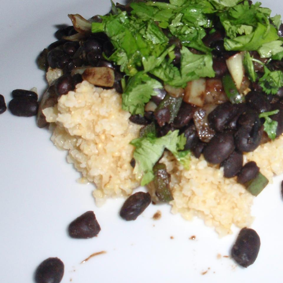 Spicy Vegetarian Black Beans (Fusion) sueb