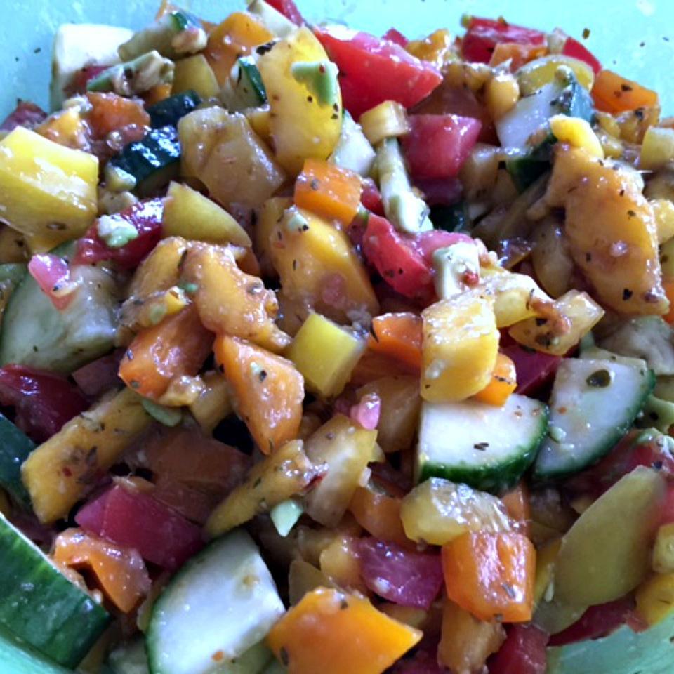 Greek Mango Salad Volleyballmom