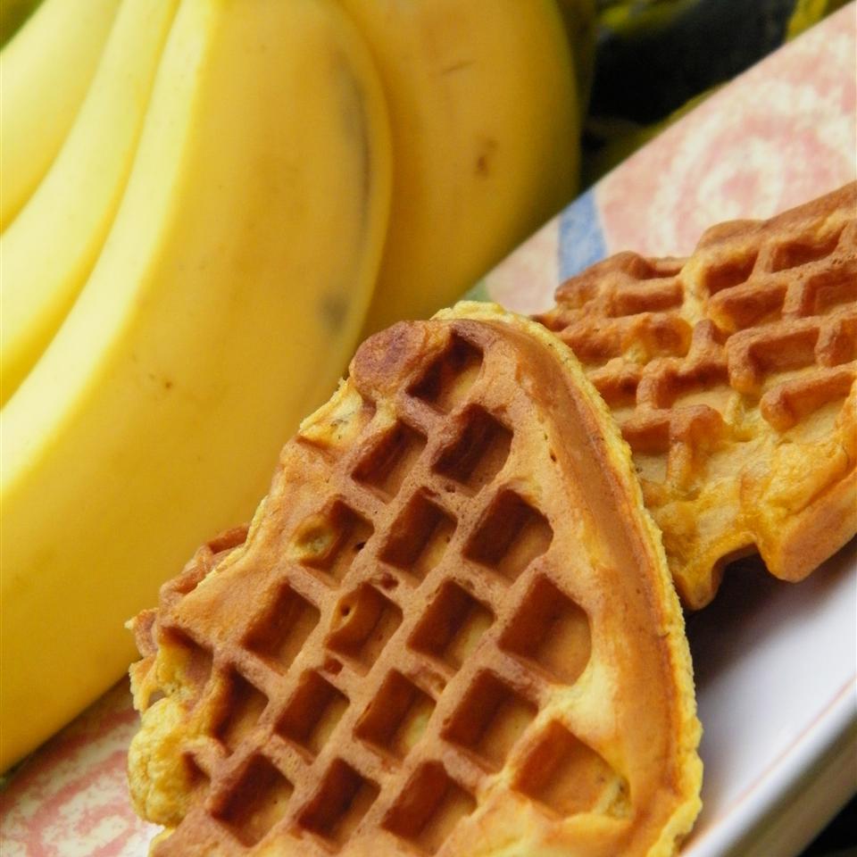 Whole Wheat Banana Waffles