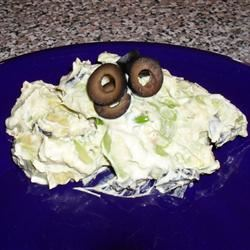 Avocado Salad with Bacon and Sour Cream