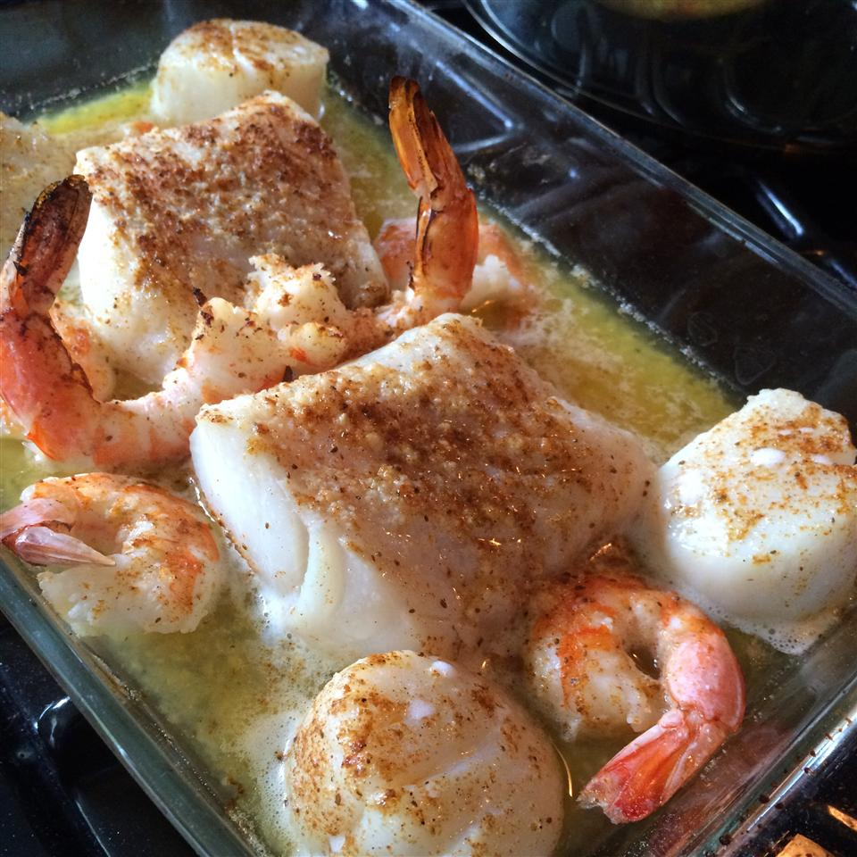 Seafood Bake for Two