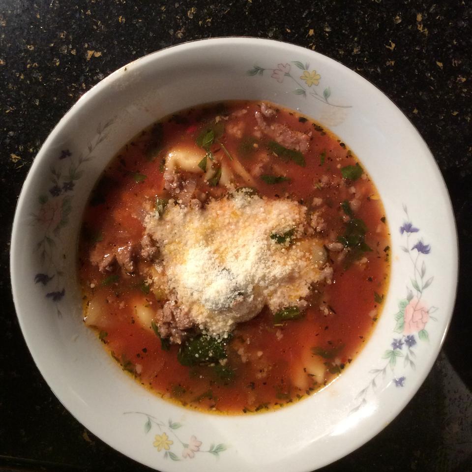 Authentic Tortellini Soup mitchfurman