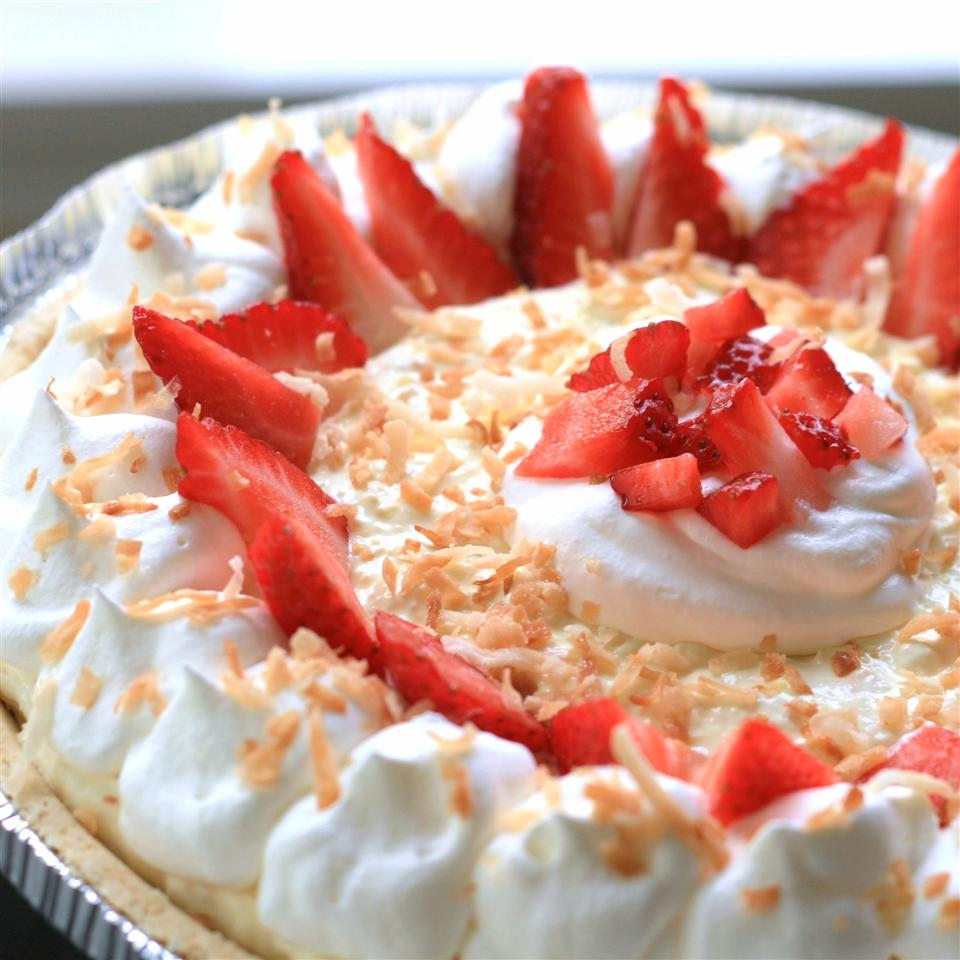 Strawberry Pina Colada Pie France C