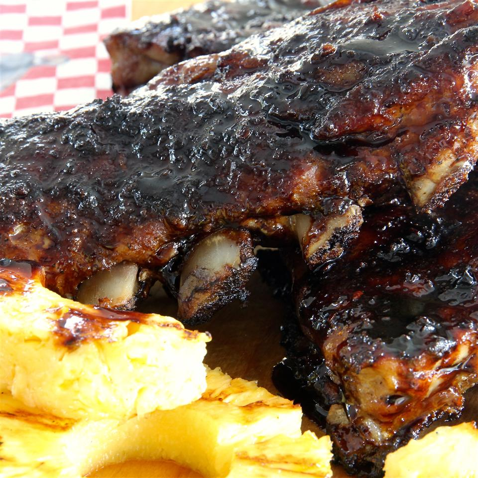 Sweet & Spicy Asian Style BBQ Back Ribs