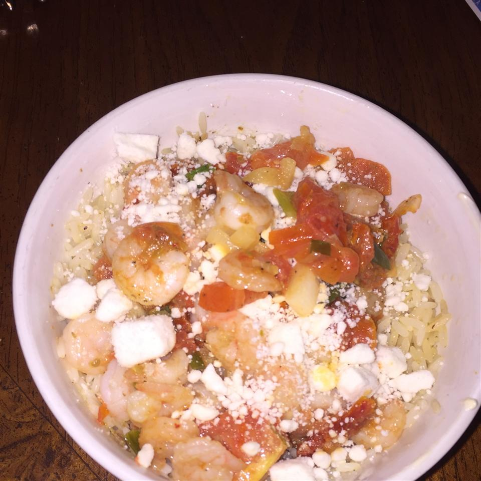 Shrimp with Tomatoes and Feta Cheese Nathalie