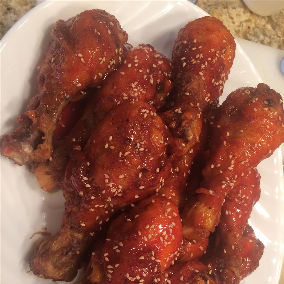 Crispy Honey Sriracha Chicken Wings Suzanne Rominger