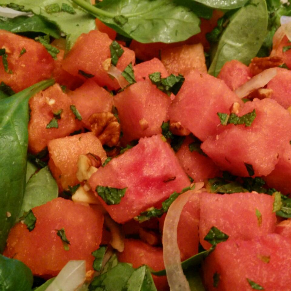 Spinach Watermelon-Mint Salad Niki