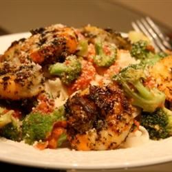 Shrimp, Broccoli, and Sun-dried Tomatoes Scampi with Angel Hair DChrissy