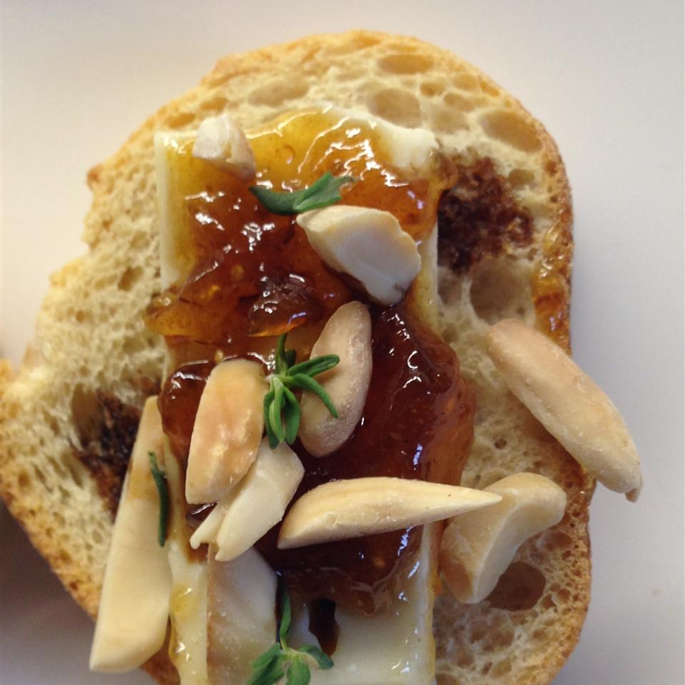 Petit Toasts with Brie, Fig, and Thyme lisa j