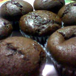 Chocolate Chocolate Chip Nut Muffins
