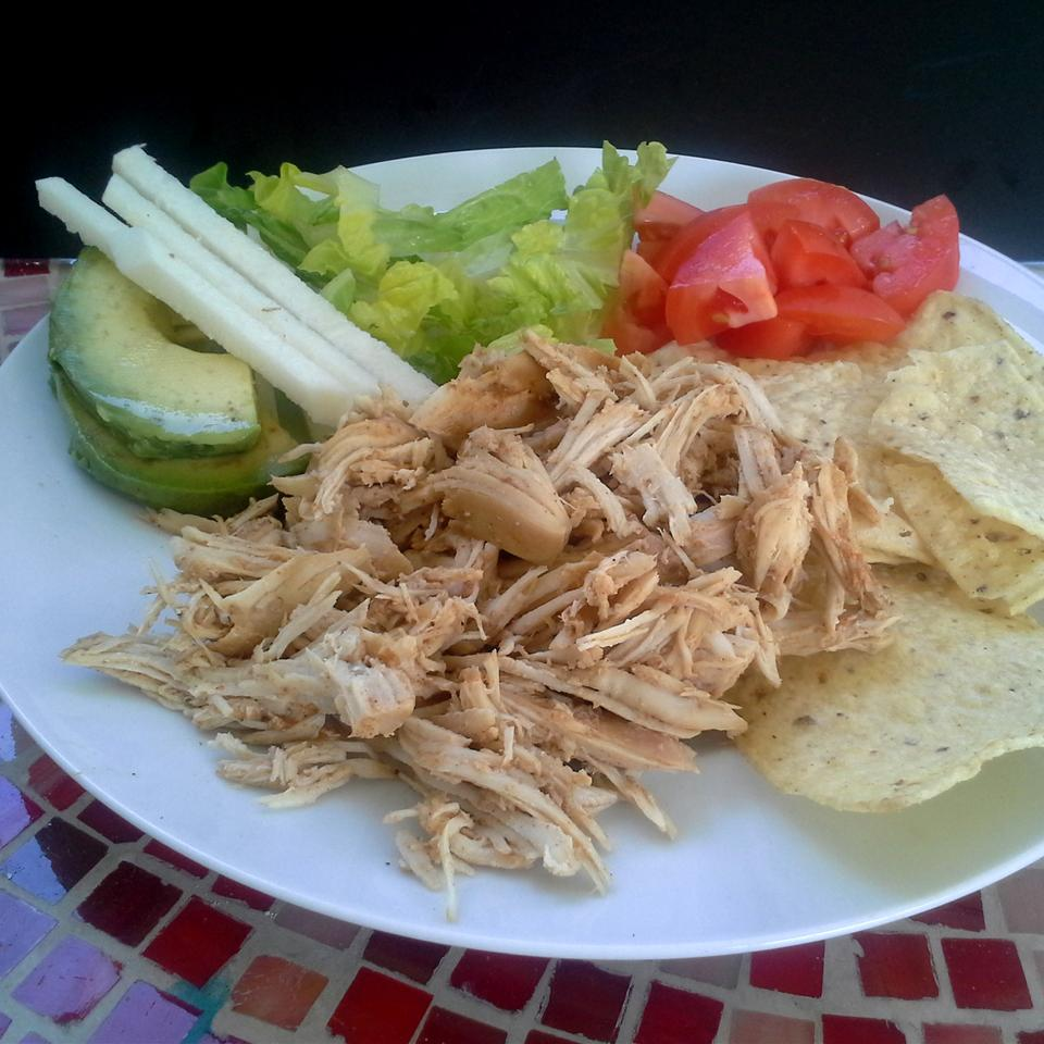Fiesta Slow Cooker Shredded Chicken Tacos Rock_lobster