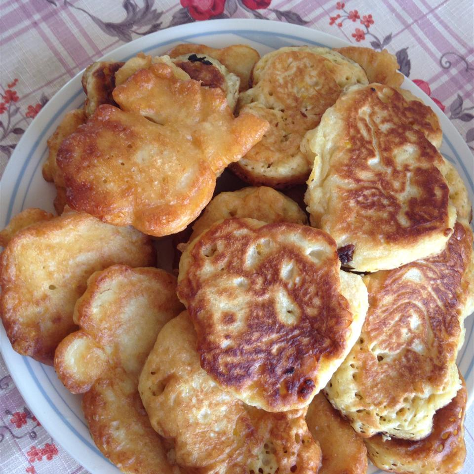 Corn Fritters with Maple Syrup susan