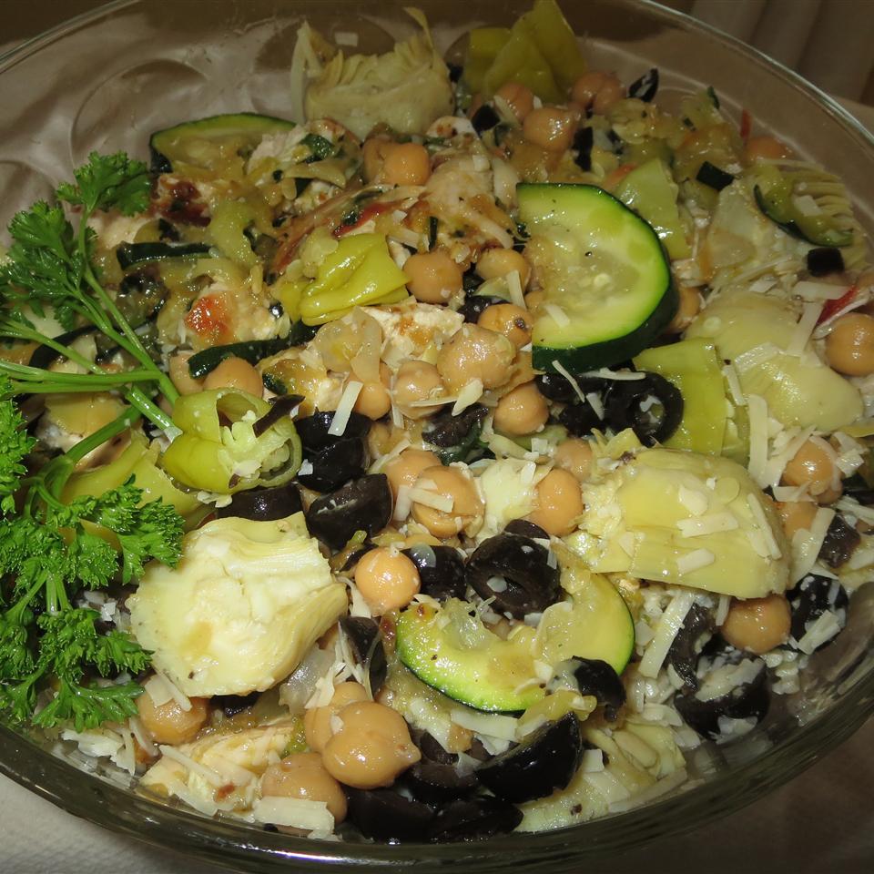 Zucchini Artichoke Summer Salad Phoebe