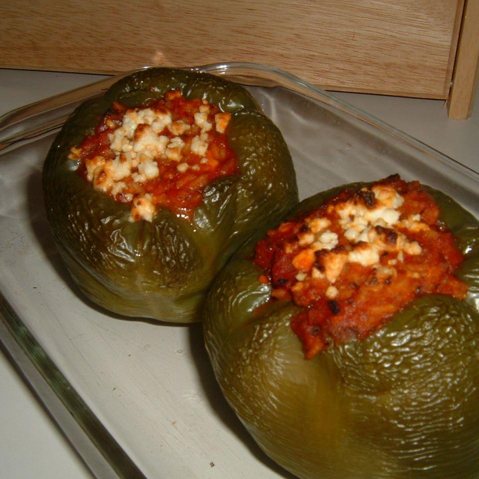 Lamb Feta Peppers
