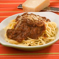 Spaghetti with Tomato and Sausage Sauce Trusted Brands