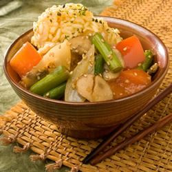 Stir Fried Sesame Vegetables with Rice Trusted Brands